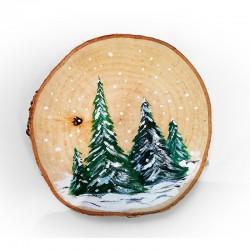 Zimowy las 14cm